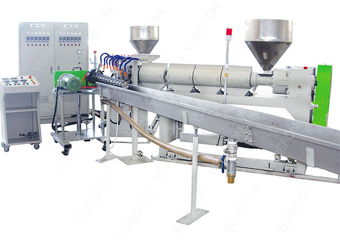 Spiral Reinforced Plastic Pipe Extrusion Line , PVC Plastic Spiral Suction Hose Making Machine