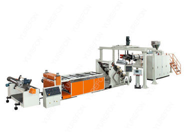 110 KW PP PS Pet Plastic Sheet Extrusion Line SJ120 Dengan Bimetallic Screw Barrel
